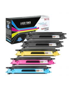 CBTN115-5P | Brother TN115 Compatible Toner Cartridge 5-Pack (2Bk, 1 each C/M/Y) ..