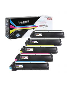 CBTN210-5P | Brother TN210 Compatible Toner Cartridge 5-Pack (2Bk, 1 each C/M/Y) ..