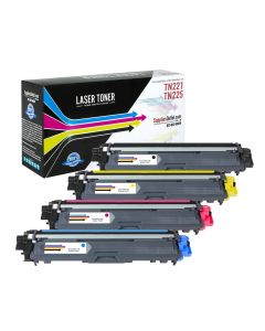 SOBTN225-CP | Brother TN221 (TN225) Compatible Toner Cartridge Color Set