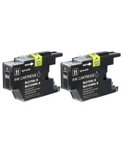 CLC752PKS | Brother LC75BK Compatible Ink Cartridge 2-Pack
