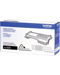 TN450 | Brother OEM TN-450 Black Laser Toner Cartridge 2,600 Page Yield