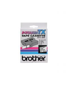 "TX2411 | Brother TX2411 OEM Black On White P-Touch Label Tape 3/4"" x 50'"