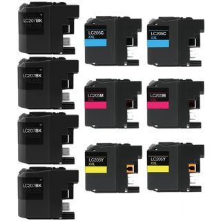 CLC207VB | Brother LC205/LC207 Compatible Ink Cartridge 10-Pack