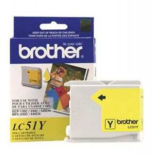 LC51Y | Brother LC51Y OEM Yellow Ink Cartridge